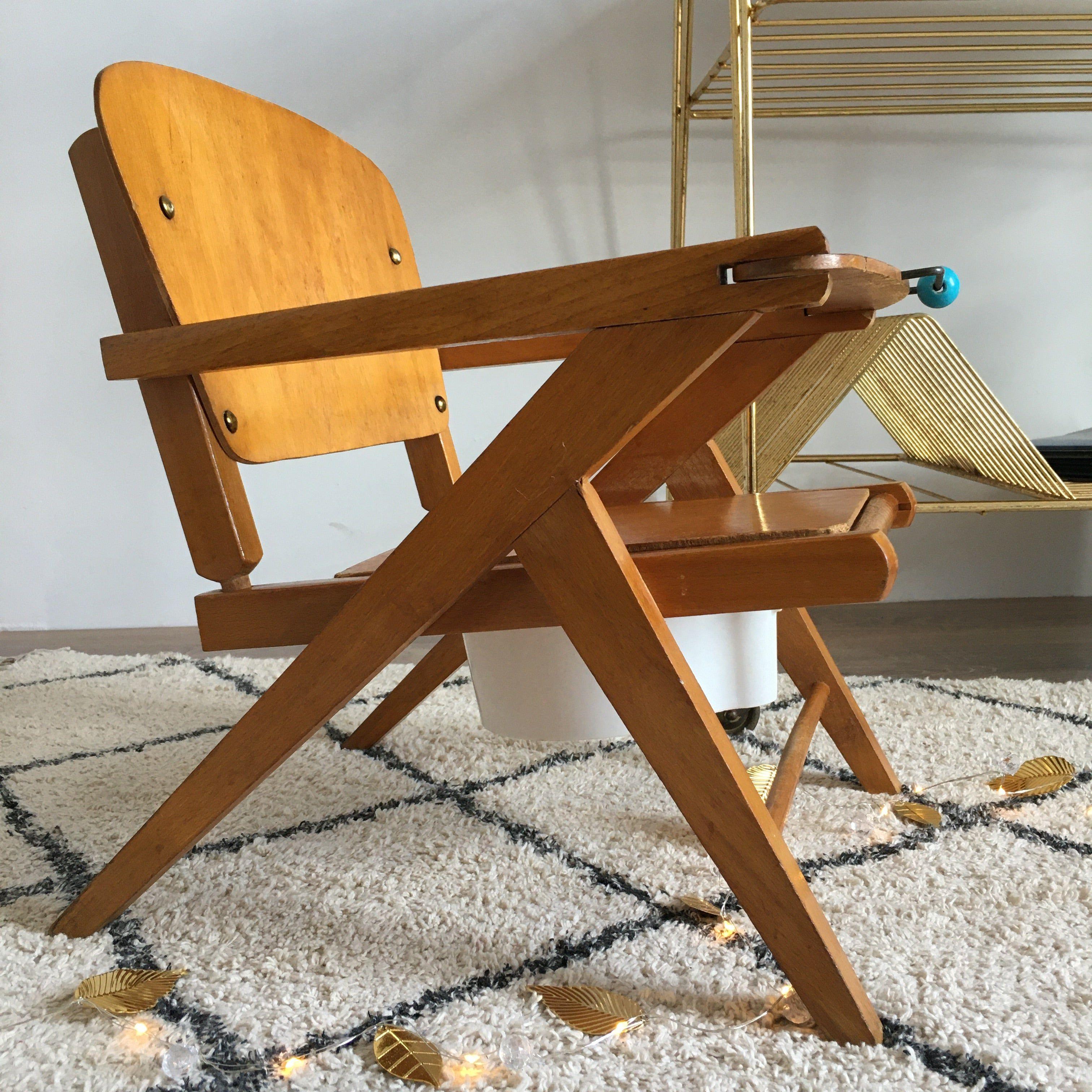 Orangevertevintage — Chaise Vintage Pour Enfant