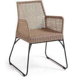 Outliv. Crete fauteuil de salle a manger maille sable / gris Outliv.outliv.