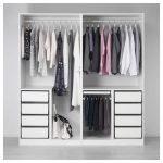 PAX Armoire-penderie - Blanc, Fjellhamar Bamboo Dark - IKEA