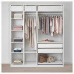 PAX Armoire-penderie - blanc, gris-vert pur - IKEA