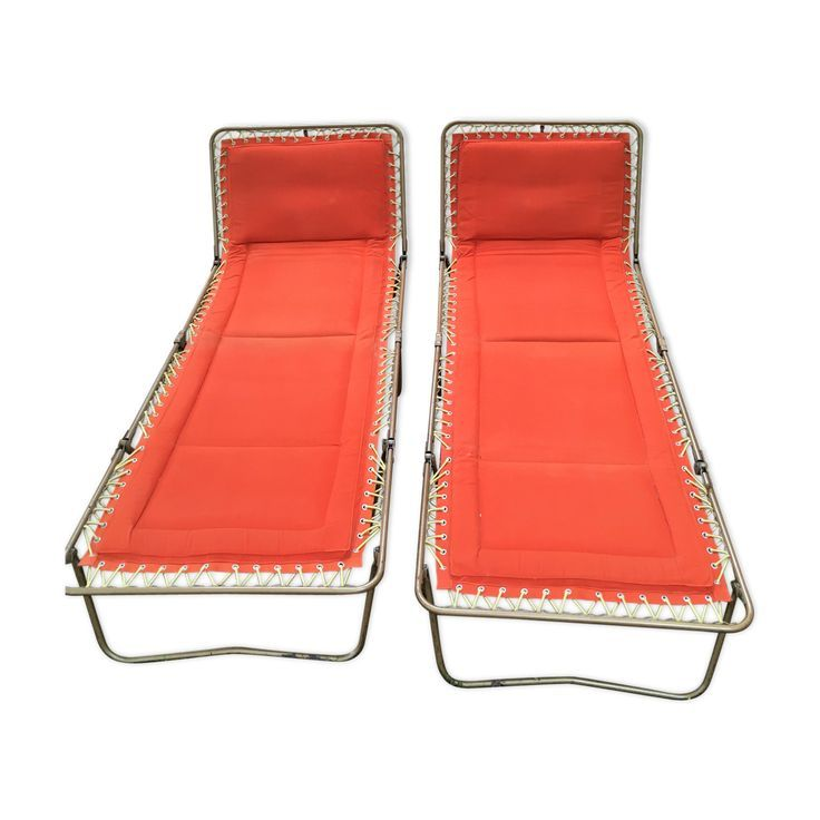 Pair of Trigano Lounge Chairs, 1970- Paire de chaises longues Trigano, 1970  Pai…