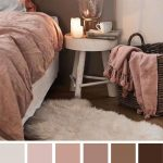 Palette de couleurs mauve et marron pour la chambre à coucher - Earth Tone Colors For Bedroom #Colorf ...