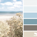 Palette de couleurs pour le style maritime dans la chambre