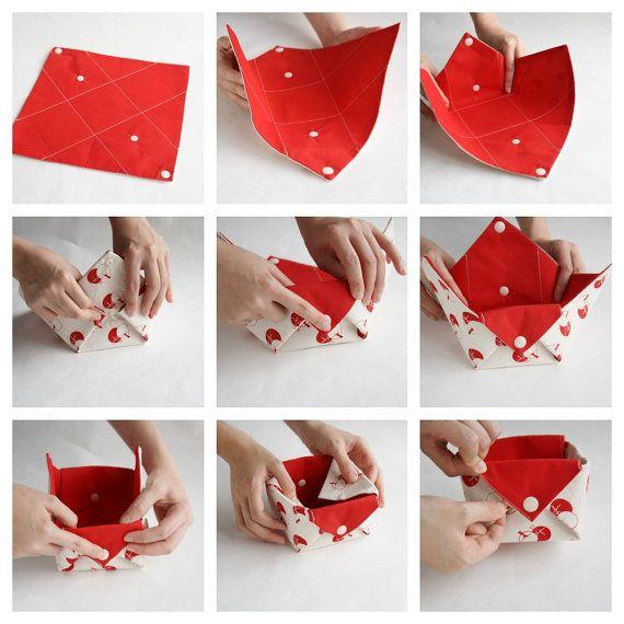 Panier de rangement en tissu – Origami Box Organizer – Corbeille à papier