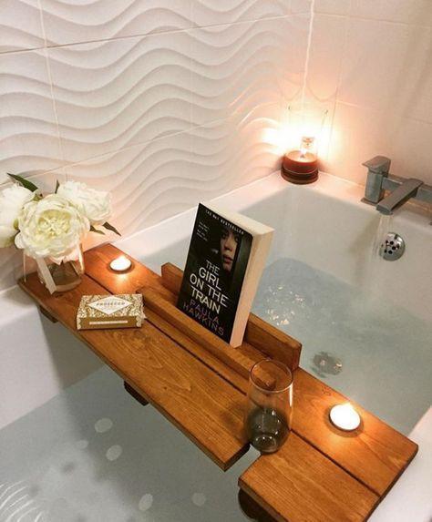 Panier pour le bain, plateau de bain, cadeau de fête des mères, planche de bain, plateau de bain, plateau de bain, …