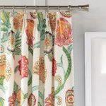 Panneau de rideau à plis assombrissant Portia Floral / Flower Room assombrissant