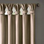 """Panneau de rideau doublé à languettes torsadées Lillian taupe 50 """"x95"""", Taille: 50x95 """", Marron"""
