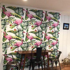 Papier peint Vintage Fleur pavot    Papier peint pépinière    Autoadhésive art mur mur murale    Aquarelle #52