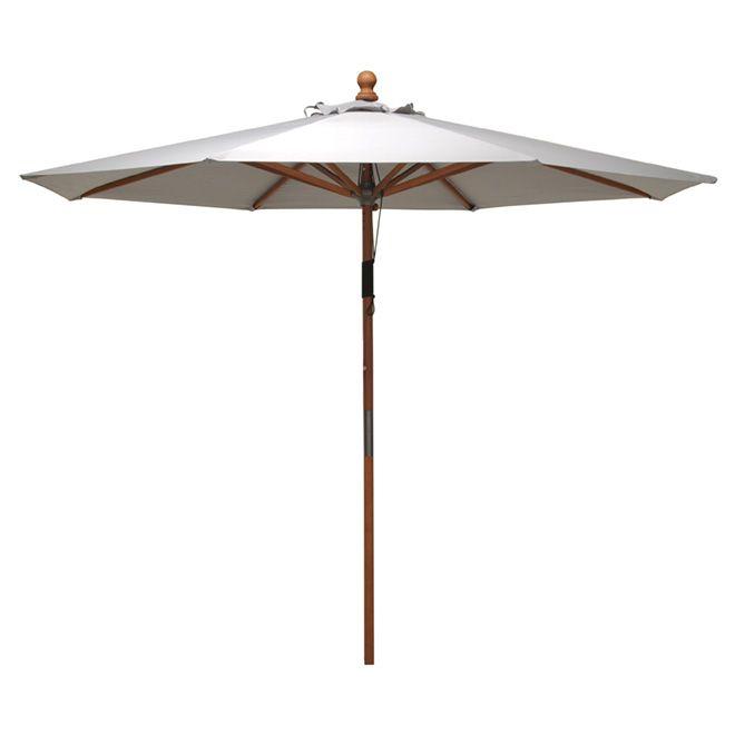 Parasol de patio «Kingsbury», 9,8 pi, blanc