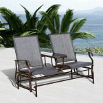 Patio Glider Rocking Chair Banc Loveseat 2 Personne Rocker Deck Mobilier D'extérieur ...