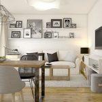 Petit salon aménagé - idées pour l'aménagement de la pièce