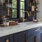 Photos de la cuisine bleu foncé
