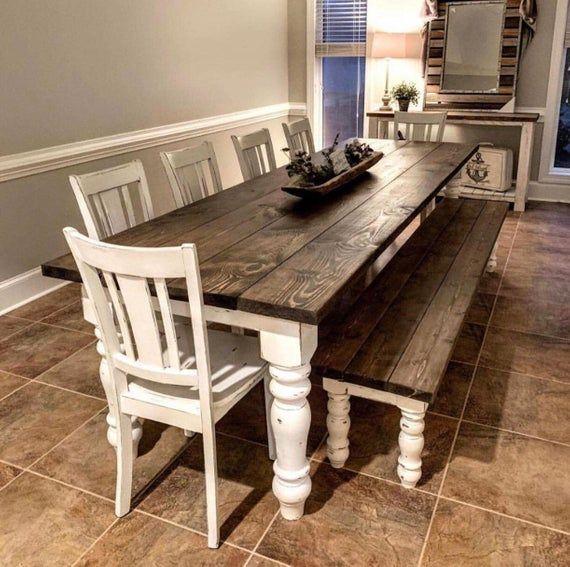 """Pieds de table à manger Chunky Maple Unfinished Farmhouse – Ensemble de 4! ~ Fabriqué en NC ~ 5 """"x 5"""" x 29 """""""