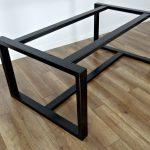 Pieds de table à manger en métal pour marbre épais et plateau en verre 71x71cm. Pieds de table en acier, cadre de table, pieds de table en fer pour bois récupéré