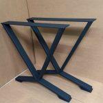 Pieds de table de salle à manger en V, pieds industriels, jeu de 2 pieds en acier