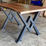 Pieds de table de salle à manger en diamant, pieds industriels, ensemble robuste et robuste de 2 pièces
