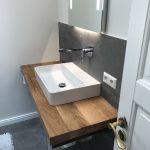 Plan de toilette en chêne massif Chêne sauvage rustique 100x50x4 cm - www.my-tableplate.com