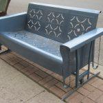 Planeur de porche, Planeur en métal vintage, Mobilier d'extérieur en métal, Planeur de patio, Vinta ...
