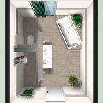 Planification de carrelage et de salle de bain dans le nouveau bâtiment