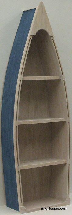 Plans d'étagères pour bateaux en bois