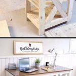 Plans pour des projets de menuiserie - Ferme X Desk Woodworking ..., #build