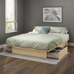 Plate-forme complète avec lit en érable naturel et tiroirs - Gramercy