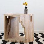 Ply Parasite, Contreplaqué, Table de nuit, Porte-revues, Melbourne, Design, Sciure de bois ...