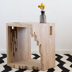 Ply Parasite, Contreplaqué, Table de nuit, Porte-revues, Melbourne, Design, Sciure de bois …