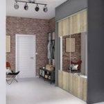 Porte de placard coulissante effet chêne brut / miroir SPACEO l.98.7 x H.250 cm