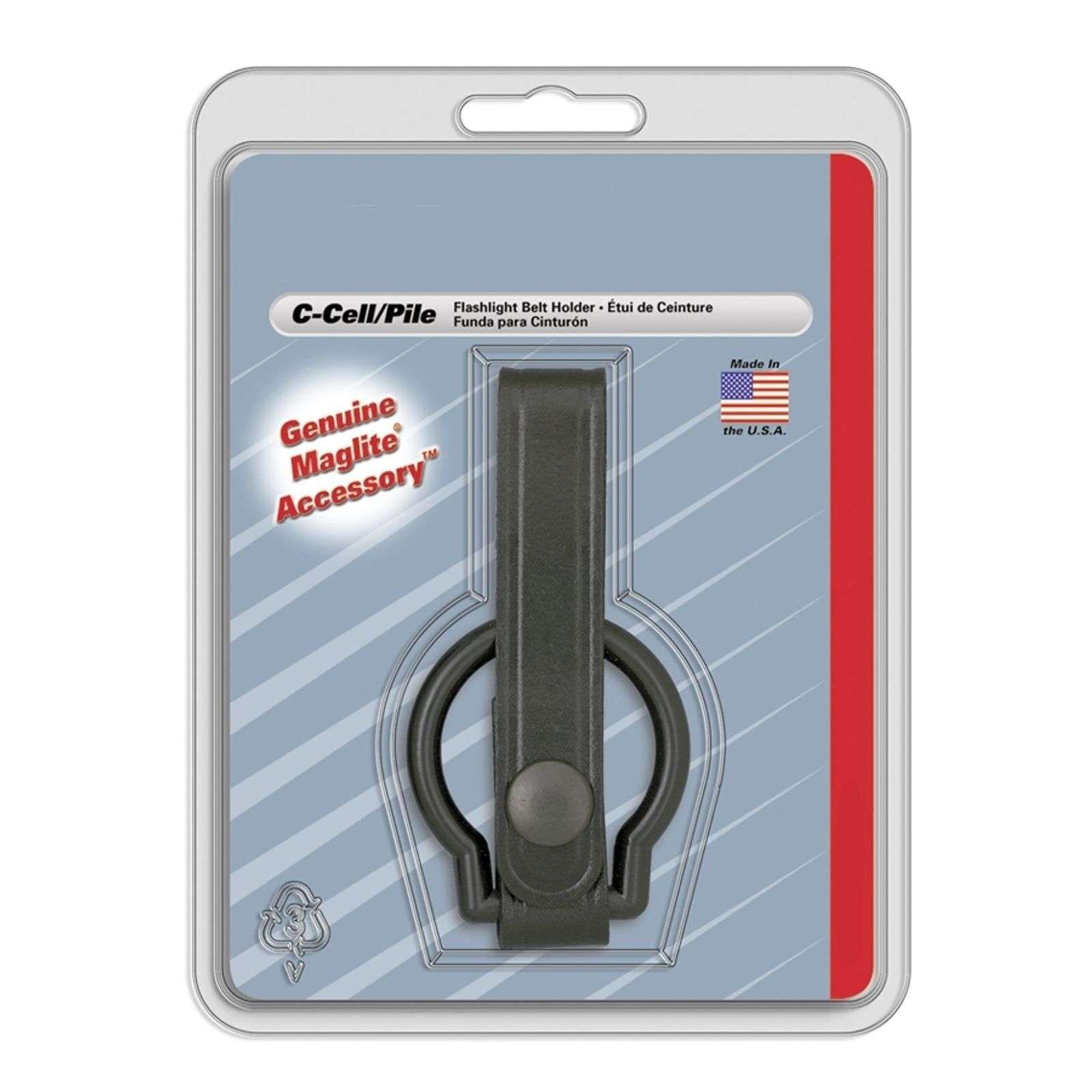 Porte lampe de poche cuir avec anneau pour C-Cell de INC., INC.