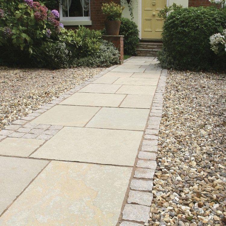 Pose de dalles de pierre pour la terrasse et le jardin – conseils et idées de design