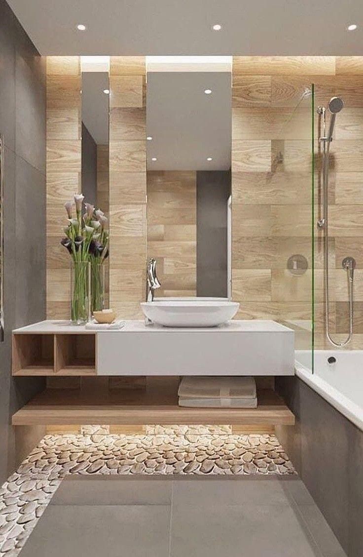 Rafraîchissant 98 merveilleuses idées de salles de bains Beige #Bathroom #Remodel #Bathtub #Design #I … …