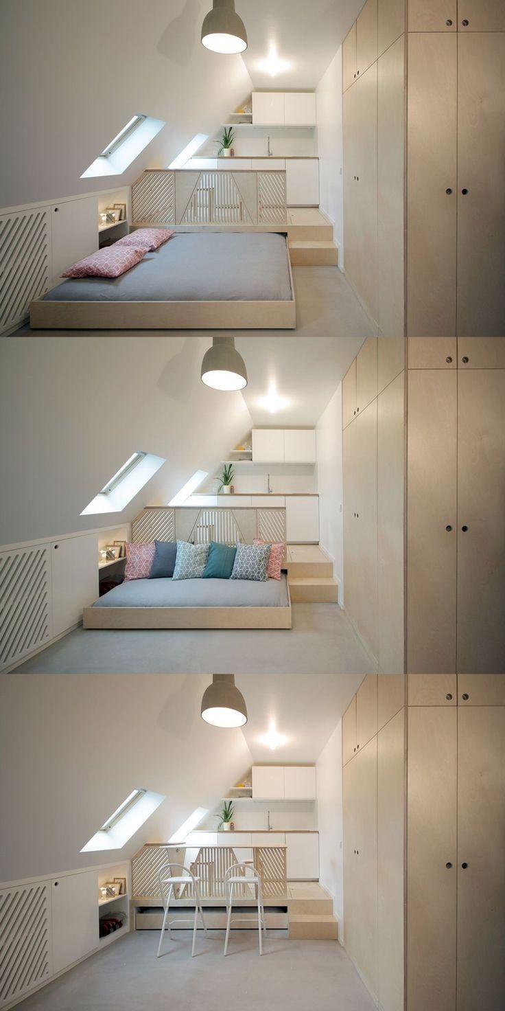 Recevoir dans studio moins de 20 m2 : solutions meubles et rangements – #dans #d…