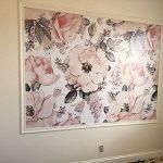 Removable Wallpaper Mural Peel & Stick Nursery Wallpaper Watercolor Vintage Floral Art Pink Flowers