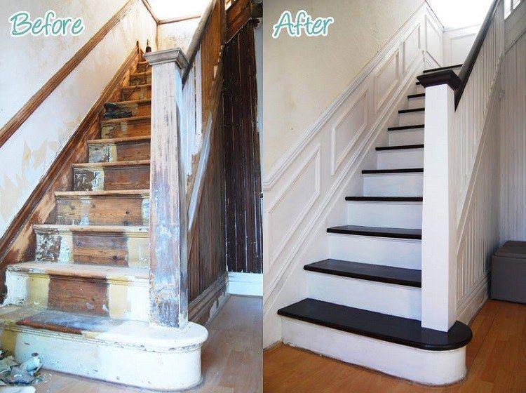 Rénovation escalier : idées escalier peint et déco montée d'escalier