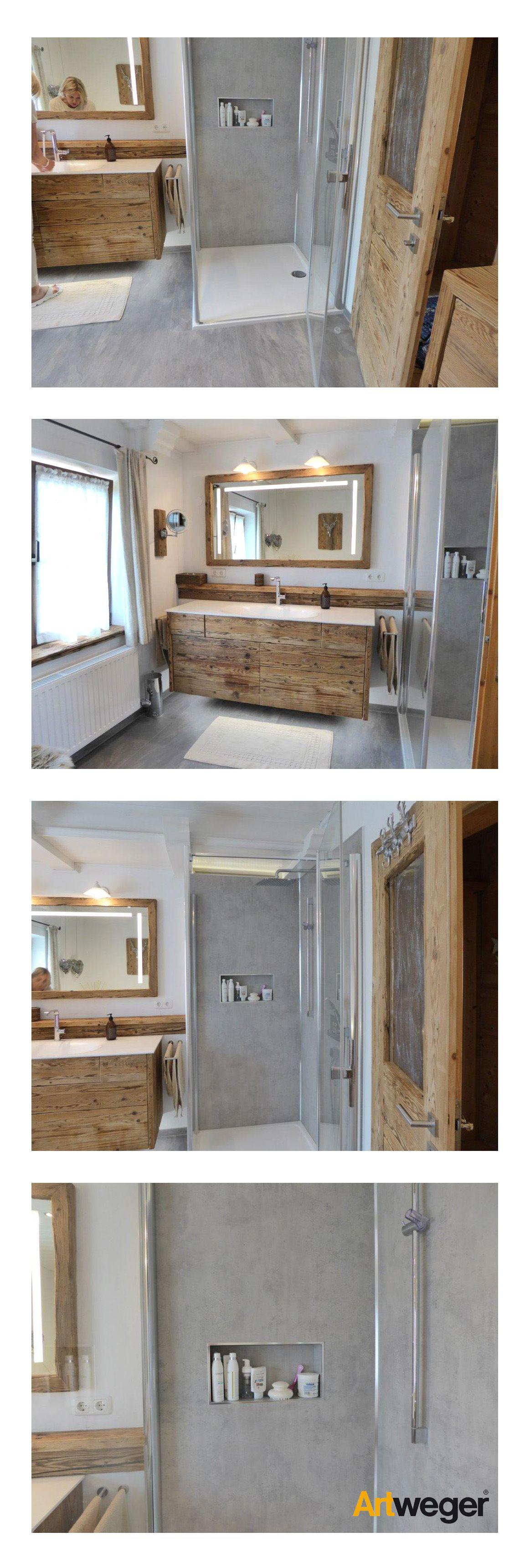 Rénovation réussie de la salle de bain avec douche Artweger TWISTLINE, panneaux muraux ART …