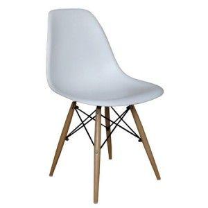 Replica chaise en plastique Eams tower piedment en bois