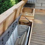 Réservoir encastrable avec meuble de rangement et mobilier de jardin seattle Cedarcraft const