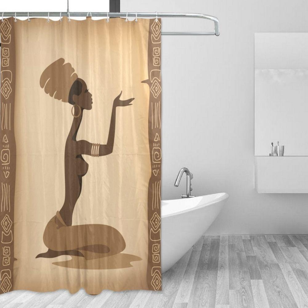 Rideau De Polyester Pour Salle De Bain Rideau De Douche Pour Femmes Africaines Rideau De …