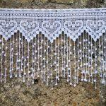 Rideau blanc en filet de crochet pour fenêtre ou porte vitrée : Textiles et ta...