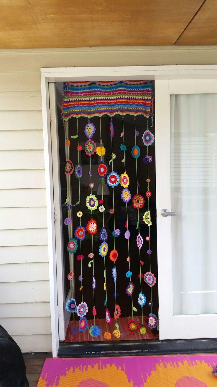 Rideau de bohème au crochet #bohemian #crochet #curtain #rideau Bohemian House Dec …