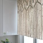 Rideau de cuisine en macramé, tapis court hollywoodien à suspendre en macramé