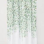 Rideau de douche à motifs - Motif blanc / feuilles - | H & M DE 3