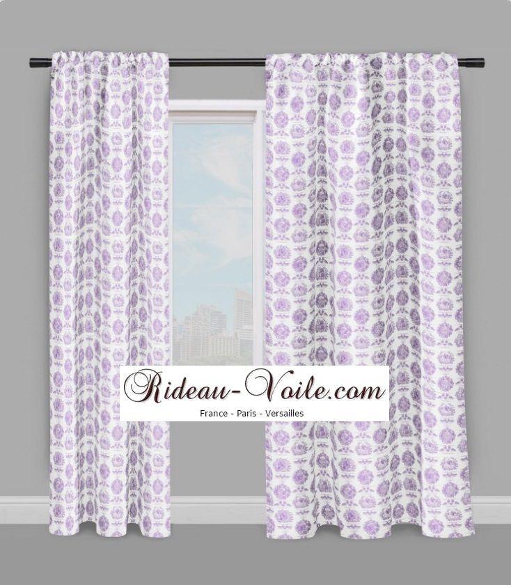Rideau design motifs Toile de jouy #Tissu#toile#de#jouy#au#mètre#motif#imprimé…
