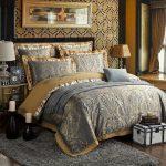 Royal Blue Silver et camel style indien de style bohème ancien monde Shabby Chic CLA1210400B ensembles de literie
