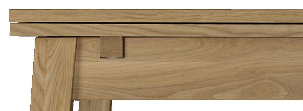 Ruskin Table de salle à manger à rallonges en chêne