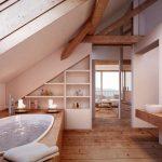 Salle de bains dans le grenier rustique Salle de bains de l'homme architecture gmbh rustique