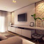 Salles de télévision décorées: 115 projets de décoration