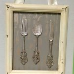 Shabby Chic couteau fourchette et cuillère encadré Wall Art - #Art #Chic #Fork #Framed #Kni ...