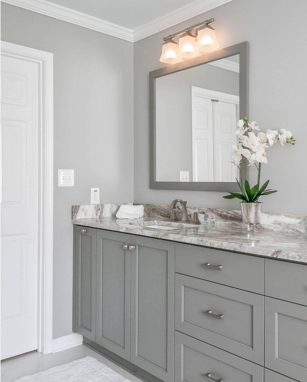 Sherwin Williams Light French Grey: Projecteur de couleur #cabinet gris à deux couleurs …